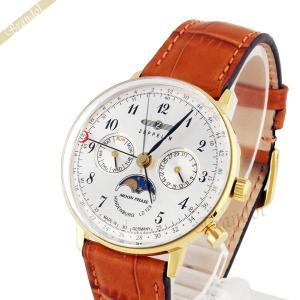 a2318e2c93 ツェッペリン ZEPPELIN メンズ腕時計 LZ129 ヒンデンブルク ムーンフェイズ 36mm シルバー×ライトブラウン 7039-1