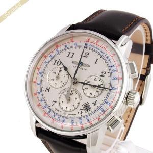 ツェッペリン ZEPPELIN メンズ腕時計 LZ126 ロサンゼルス 42mm 自動巻き ライトゴールド×ブラウン 7624-4|brandol