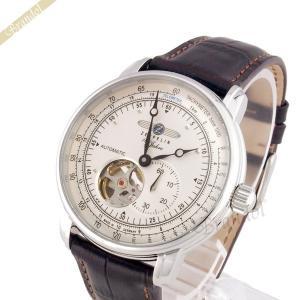 ツェッペリン ZEPPELIN メンズ腕時計 100周年記念モデル オートマチック 40mm 自動巻き ライトゴールド×ブラウン 7662-1|brandol