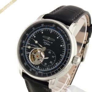 ツェッペリン ZEPPELIN メンズ腕時計 100周年記念モデル オートマチック 40mm 自動巻き ブラック 7662-2|brandol