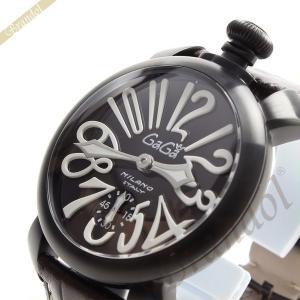 【訳あり・BOX破損】ガガミラノ GaGa Milano メンズ・レディース 腕時計 マヌアーレ 48mm MANUALE 手巻き ブラック×ブラウン 5012.04S|brandol