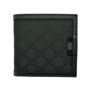 809a7864f34f グッチ財布 GUCCI 二つ折り財布 メンズ GGナイロン ブラック 150413 アウトレット
