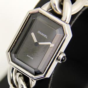 f22563da3e 美品『USED』CHANEL シャネル プルミエールL H3250 クォーツ レディース 腕時計 シルバー×ブラック◇