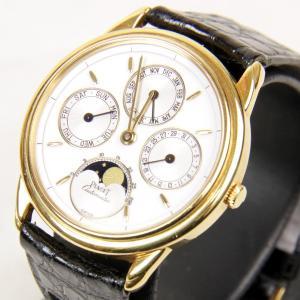 美品『USED』K18 ピアジェ PIAGET グベナー トリプルカレンダー ムーンフェイズ 15958 ゴールド 腕時計 メンズ 金無垢 オートマチック