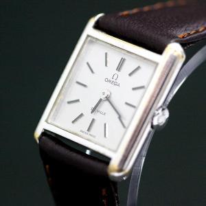 【USED】オメガ デビル シルバー×ブラウン 腕時計 腕周...