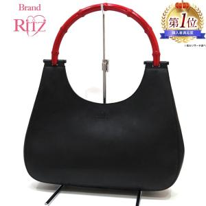 32920fa30cae 【赤が可愛いバッグです】グッチ バンブーライン ハンドバッグ レザー ABランク 001・3739 ブラック 黒 レディース 中古 あすつく 送料無料  西宮店