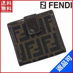 フェンディ FENDI 財布 二つ折り財布 Wホック財布 ズッカ 中古 X10326 brands