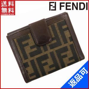 フェンディ FENDI 財布 二つ折り財布 Wホック財布 ズッカ 中古 X10529 brands