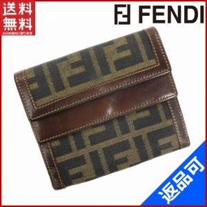 フェンディ FENDI 財布 二つ折り財布 Wホック財布 ズッカ 中古 X10533 brands