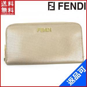 フェンディ FENDI 財布 長財布 ラウンドファスナー財布 ゴールド金具 中古 X10718 brands