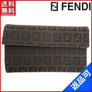 フェンディ FENDI 財布 二つ折り財布 三つ折り財布 パスケース付き ズッキーノ 中古 X10963 brands