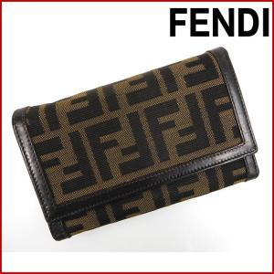 フェンディ 財布 FENDI 二つ折り財布 ズッカ 三つ折り財布 中古 X11479