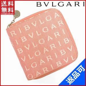 ブルガリ BVLGARI 財布 二つ折り財布 ラウンドファスナー財布 ロゴマニア 中古 X12112|brands