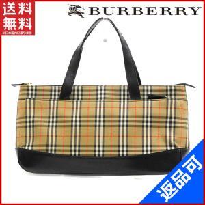 [半額セール!] バーバリー バッグ BURBERRY ハンドバッグ ノバチェック 中古 X12850|brands