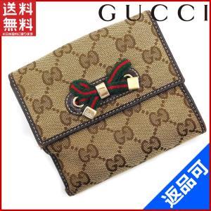 [半額セール!] グッチ 財布 GUCCI 二つ折り財布 GGキャンバス 中古 X16266|brands