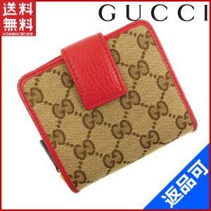 [半額セール!] グッチ 財布 GUCCI 二つ折り財布 GGキャンバス 中古 X16305|brands