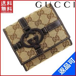 [半額セール!] グッチ 財布 GUCCI 二つ折り財布 GGキャンバス 中古 X16750|brands