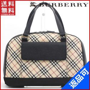 [半額セール!] バーバリー バッグ BURBERRY ハンドバッグ ノバチェック 中古 X17142|brands