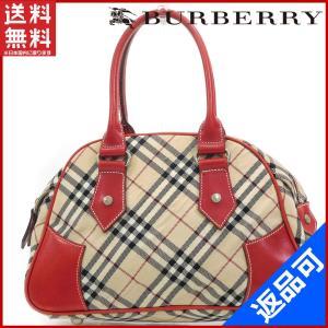 [半額セール!] バーバリー バッグ BURBERRY ハンドバッグ ノバチェック 中古 X17313|brands