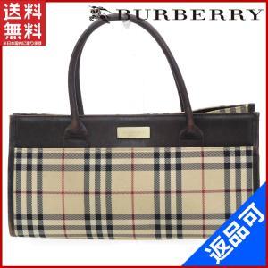 [半額セール!] バーバリー バッグ BURBERRY ハンドバッグ ノバチェック 中古 X17323|brands