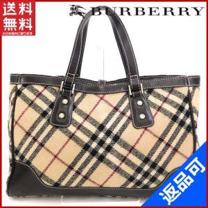 [半額セール!] バーバリー バッグ BURBERRY ハンドバッグ ノバチェック 中古 X17360|brands