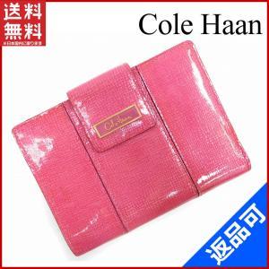 69e55f268796 コールハーン Cole Haan 財布 二つ折り財布 中長財布 ロゴプレート付き ロゴ 中古 X5591