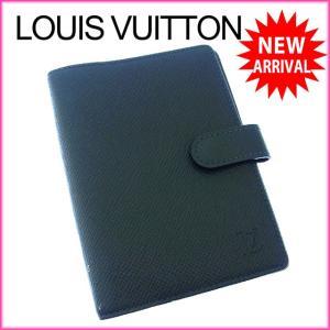 ルイヴィトン R20433 アジェンダPM LOUIS VUITTON 手帳カバー タイガ カード入れ×3 中古 X7771