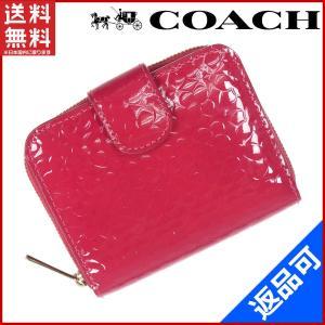 bf7144aa2a40 コーチ COACH 財布 二つ折り財布 ラウンドファスナー財布 中古 X8268