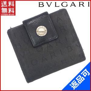 [半額セール!] ブルガリ 財布 BVLGARI 二つ折り財布 ロゴマニア 中古 X9942