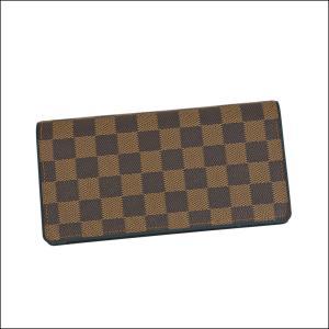587626f9f71f ルイヴィトン LOUIS VUITTON ポルトフォイユブラザ N63168 ダミエ×ブルー メンズ 二つ折り長財布 小銭入れあり 縦型