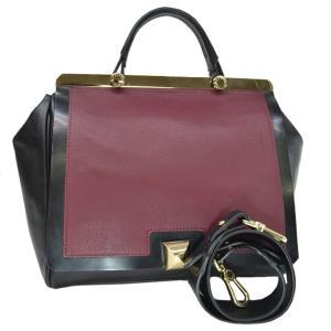 フルラ FURLA バッグ レザーx金属素材 ブラックxボルドーxゴールド 定番人気|brandvalue-store