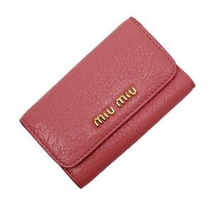 ミュウミュウ MIUMIU 6連キーケース レザー ピンクxゴールド 定番人気|brandvalue-store