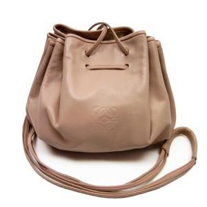 ロエベ LOEWE 斜め掛けショルダーバッグ 巾着バッグ レザー ピンク 定番人気 brandvalue-store