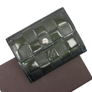 ルイヴィトン Louis Vuitton カードケース コインケース 定期入れ ダミエヴェルニ ラドロー パテントレザー ペトロールブルー 定番人気|brandvalue-store