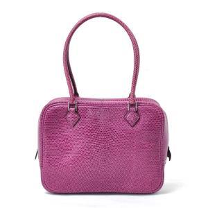 エルメス HERMES ハンドバッグ プリュム 20 リザードスキン ローズショッキング 定番人気|brandvalue-store