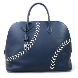 エルメス HERMES ハンドバッグ ボリード ベースボール BASEBALL 45 エヴァーカラー ブルードマルトxホワイト 美品|brandvalue-store