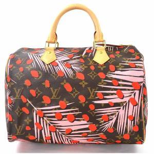 【美品】 ルイヴィトン Louis Vuitton ハンドバッグ モノグラムジャングルドット スピーディ30 M41983 モノグラムキャンバス ブラウンxレッドxピンク|brandvalue-store