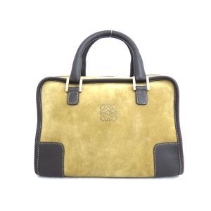ロエベ LOEWE バッグ アナグラム アマソナ28 スエードxレザー ブラウンxゴールド金具 定番人気 brandvalue-store
