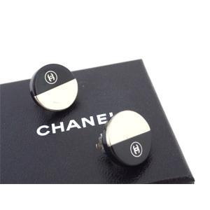 シャネル CHANEL イヤリング ココマーク プラスチック ブラックxシルバー金具 定番人気|brandvalue-store