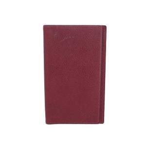 1本ピン 手帳カバー バーガンディー レザー □A刻印(1996年) 中古
