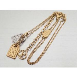 84e5a9619375 ルイヴィトン Louis Vuitton ネックレス ネックレス・ナノグラム 金属素材 ゴールドxシルバー おすすめ