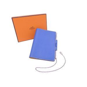 バイカラー 手帳カバー ブルー レザー □A刻印(1997年) 中古