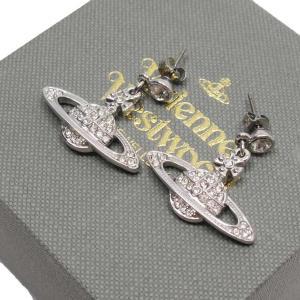 ヴィヴィアンウエストウッド Vivienne Westwood ピアス オーブ ラインストーンx金属素材 シルバー 定番人気|brandvalue-store
