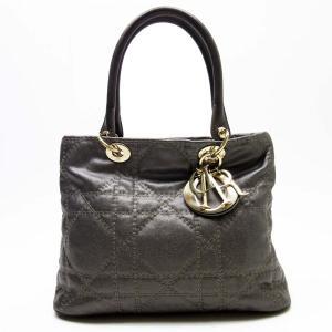 クリスチャンディオール Christian Dior ハンドバッグ レディ ディオール コーティングキャンバスxレザー ブロンズxゴールド 定番人気|brandvalue-store