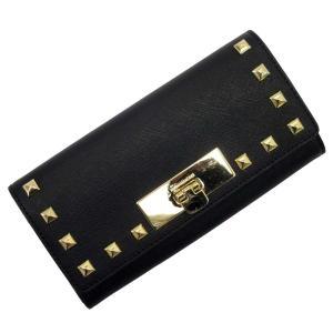 マイケルコース MICHAEL KORS 長財布 レザーxスタッズ ブラックxゴールド おすすめ|brandvalue-store