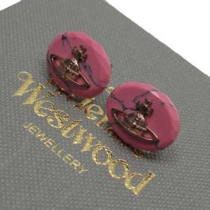 ヴィヴィアンウエストウッド Vivienne Westwood ピアス オープ ピンクストーン ピンクxゴールド 定番人気|brandvalue-store