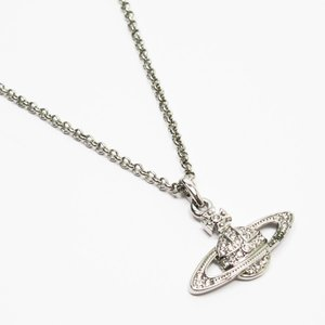 ヴィヴィアンウエストウッド Vivienne Westwood ネックレス オーブ 金属素材xラインストーン シルバー おすすめ|brandvalue-store