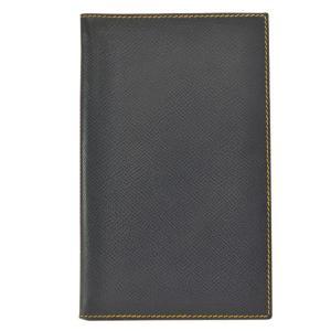 アジェンダカバー 手帳カバー ブラック レザー □C 中古