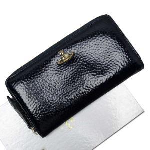 ヴィヴィアンウエストウッド Vivienne Westwood ラウンドファスナー長財布 オーブ パテントレザー ネイビーxゴールド 定番人気|brandvalue-store