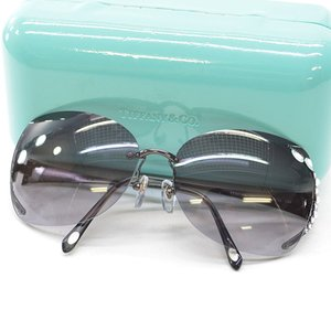 ティファニー Tiffany&Co. サングラス 61□15 130 プラスチックxステンレスxストーン レンズ:ブラックグラデーション フレーム:メタルカラー 定番人気|brandvalue-store